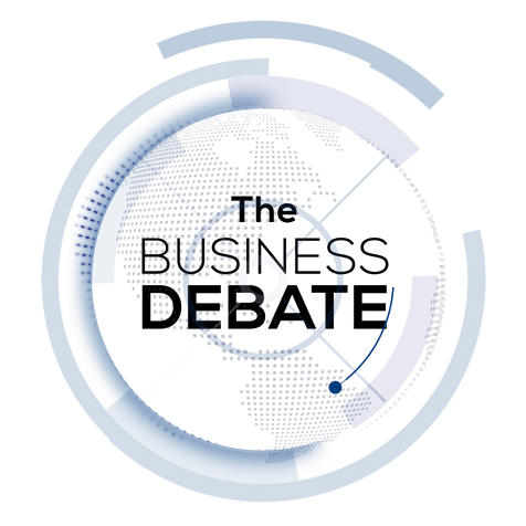 the business debate logo