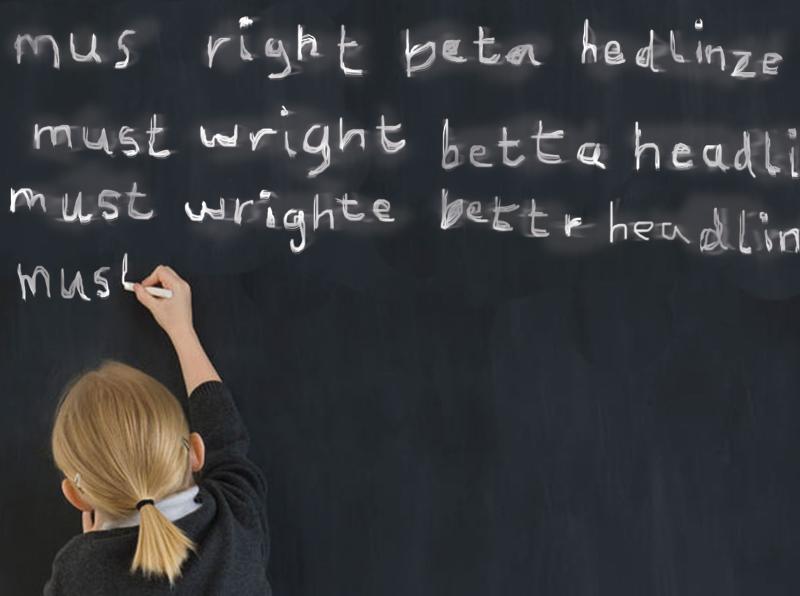 Write better headlines on chalk board