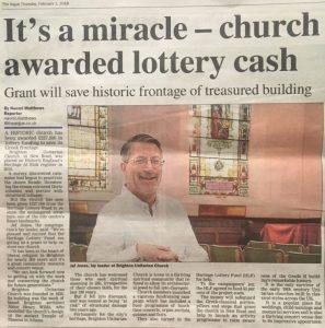 PR Coverage Newspaper Article for Brighton Unitarian Church
