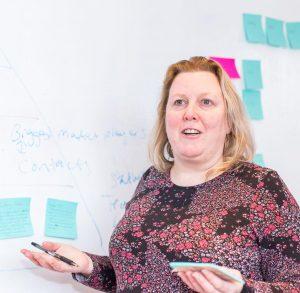 Woman Teaching Branding Messaging Workshop