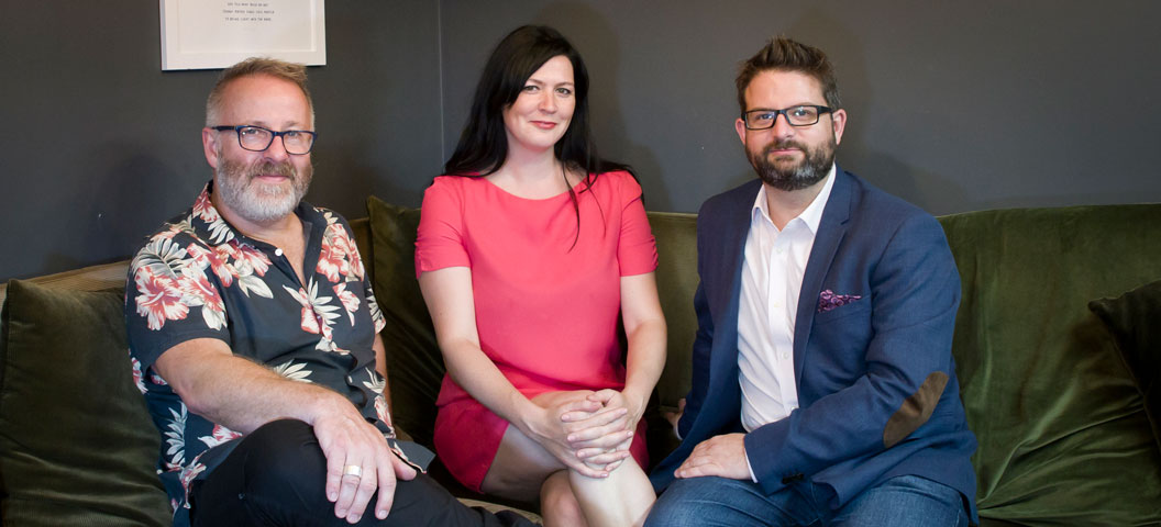 The core team of Sophie Wilson, CEO & Founder, Andy McLane and Howard Scott